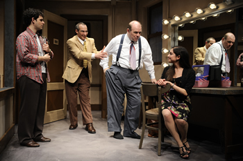 Backstage, in his dressing room, Jack confronts his challenges as an actor and as a husband to his co-starring wife