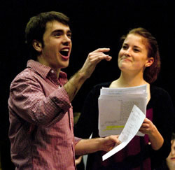 Two Northwestern theatre classes, including senior theatre major Nate Lewellyn and School of Music junior Sally Eidman, helped develop the musical adaptation of Not Wanted on the Voyage for the American Music Theatre. The show opens July 15.
