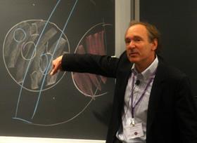 Sir Tim Berners-Lee presenting