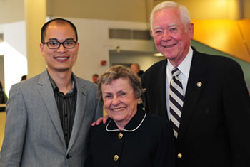 Patrick Wong, associate professor of communication sciences and disorders, and Roxelyn and Richard Pepper