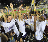 Team celebrating on the field