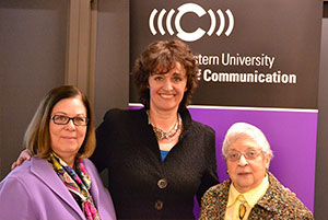 Louann Van Zelst (C49, GC51) with pictured with Dean Barbara O'Keefe and Valkenburg
